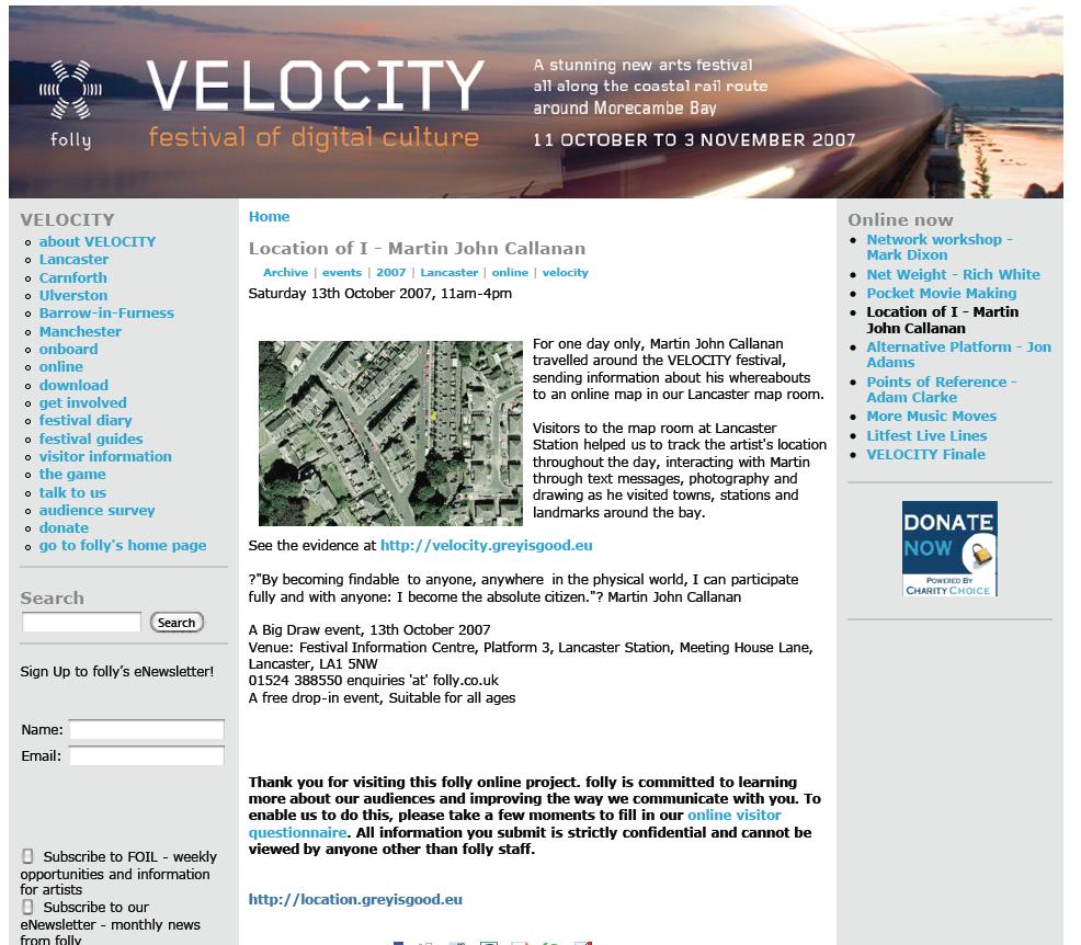 Folly, Velocity Festival