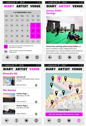 Get the Whitstable Biennale app for your smartphone, know where every event is, and when!