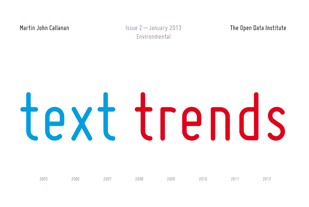 Text Trends newspaper environmental