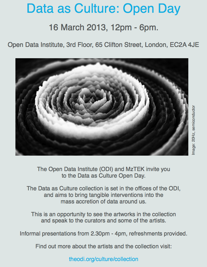 Data as Culture: Open Day