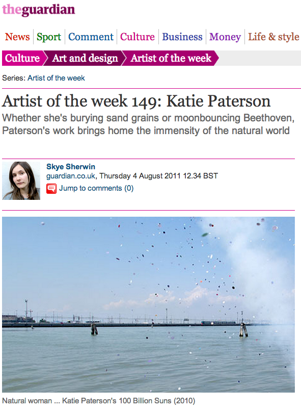 Katie Paterson Guardian Artist of the Week