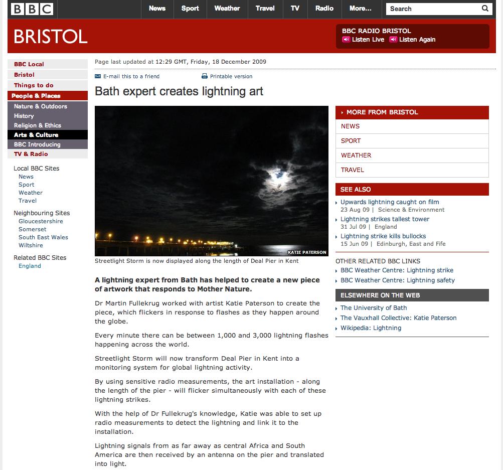 Katie Paterson BBC Bristol