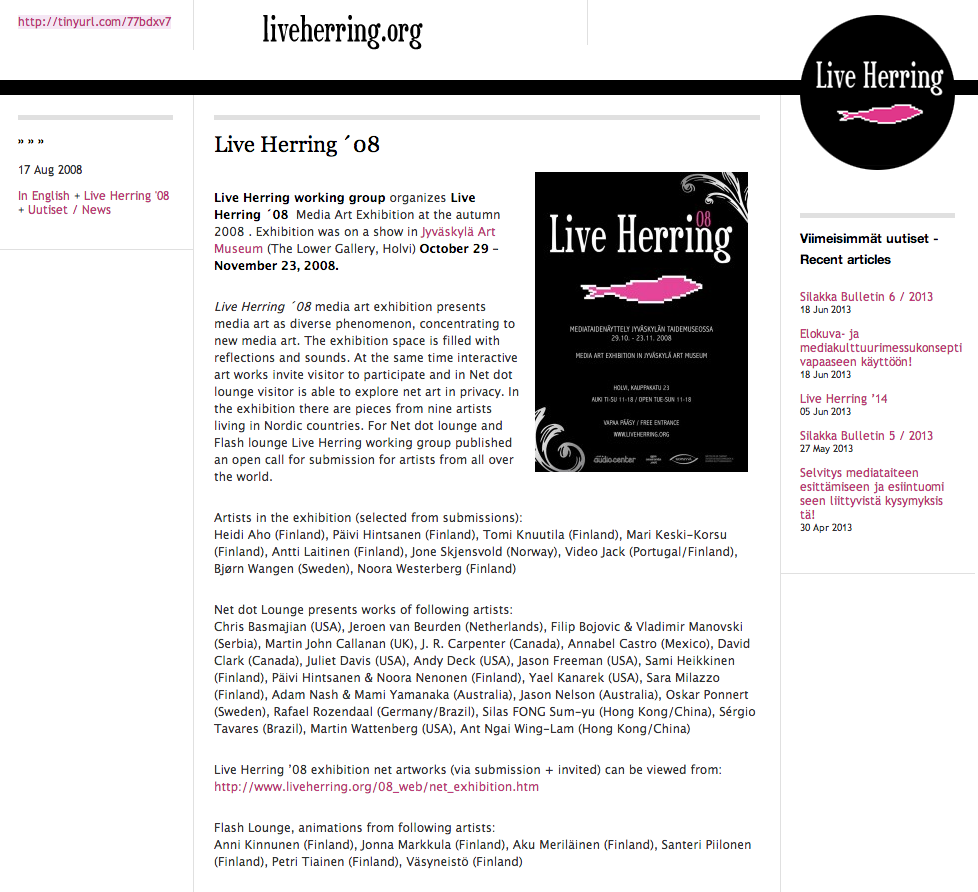 LIve Herring 2008