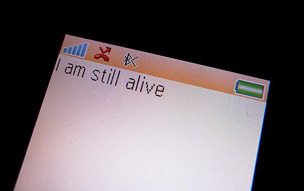 I am Still Alive (after On Kawara) — Martin John Callanan